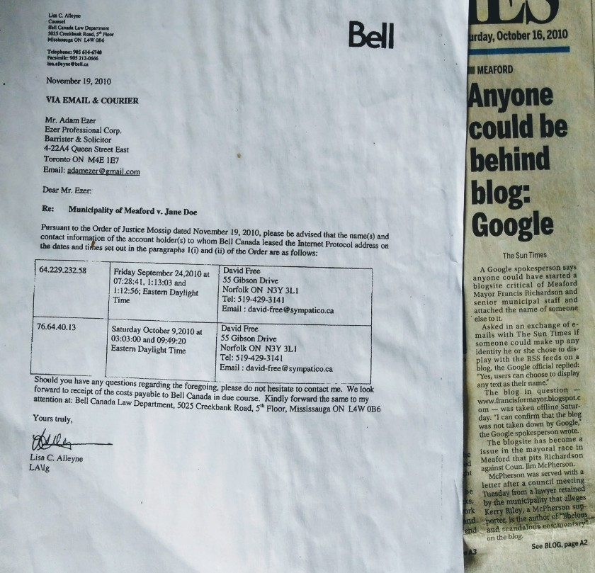 Article and letter
